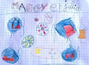 """""""Le Petit Dejeuner de Jahel"""" par Maggy, 7 ans"""